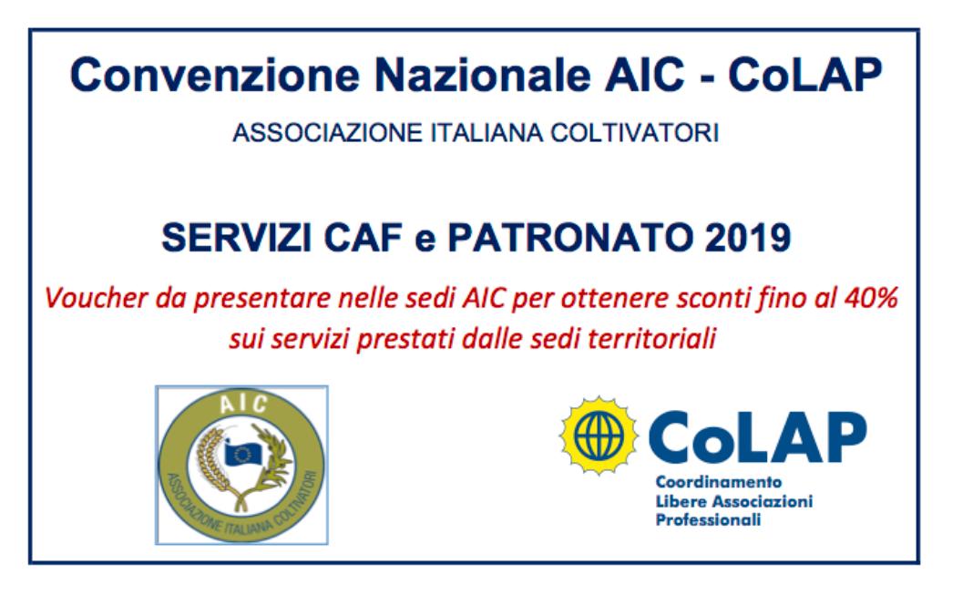 CONVENZIONE CAF SCONTI 40%