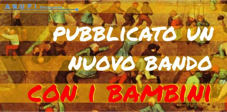 Bando CON I BAMBINI, scad. 4/12/2020